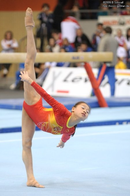 Lu Sui won gold on floor last weekend.