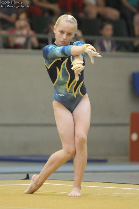 Desirée Baumert at the German Championships 2009 (1st AA)